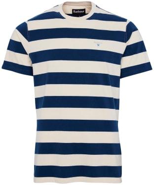Men's Barbour Beach Stripe Tee - Chalk