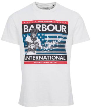 Men's Barbour International Steve McQueen Time Steve Tee - Whisper White