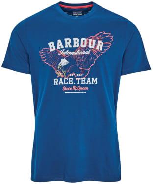 Men's Barbour International Steve McQueen Race Team Tee - Dark Petrol