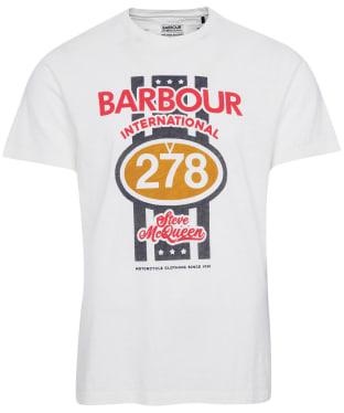 Men's Barbour International Steve McQueen Chase Tee - Whisper White