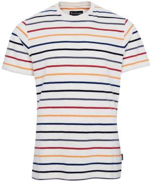 Men's Barbour Summer Stripe Tee - Ecru