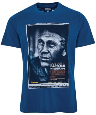 Men's Barbour International Steve McQueen Hero Tee - Dark Petrol