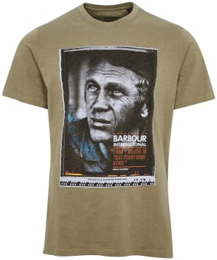 Men's Barbour International Steve McQueen Hero Tee - Light Moss