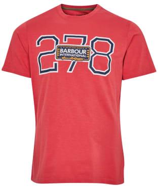Men's Barbour International Steve McQueen Beech 278 Tee - Sunbleached Red