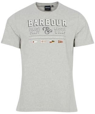 Men's Barbour Rope Tee - Grey Marl