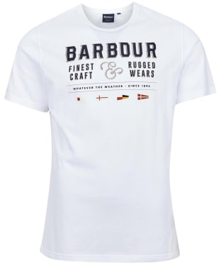 Men's Barbour Rope Tee - White