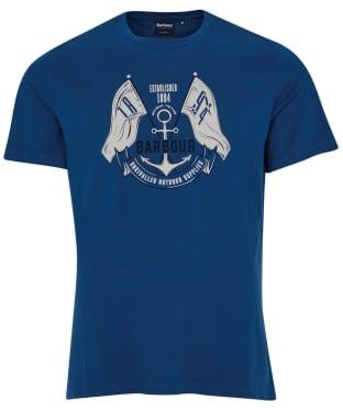 Men's Barbour Flags Tee - Estate Blue