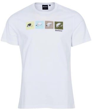 Men's Barbour Fish Fly Tee - White