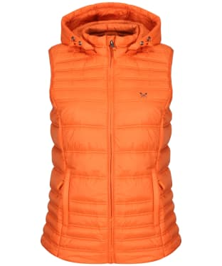 Women's Crew Clothing Lightweight Padded Gilet - Red Clay
