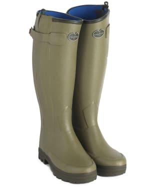 Women's Le Chameau Chasseur Neoprene Lined Wellington Boots - Vert Vierzon