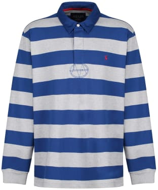Men's Joules Onside Rugby Shirt - Blue / Grey Stripe