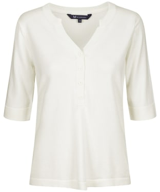 Women's Crew Clothing Knitted Henley Top - White