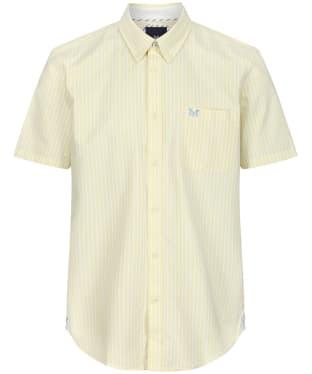 Men's Crew Clothing Heritage SS Stripe Oxford Shirt - Lemon