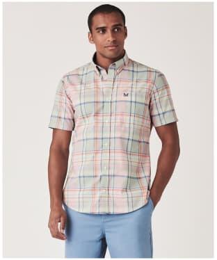 Men's Crew Clothing Padbury SS Soft Multi Check Shirt - Multi