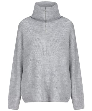 Women's Crew Clothing Kara Zip Neck Jumper - Grey Marl