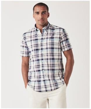 Men's Crew Clothing Bickleigh SS Bold Check Shirt - Pink / Indigo / Lavender