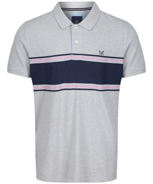 Men's Crew Clothing Wilder Polo Shirt - Grey Marl / Navy