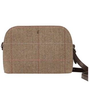 Women's Joules Adeline Dome Tweed Cross Body Bag - Dark Brown Check
