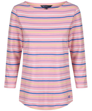 Women's Crew Clothing Essential Breton Top - Pink Multi
