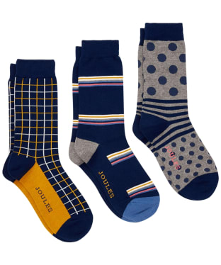 Men's Joules Striking Socks – 3 pack - MULTI PACK