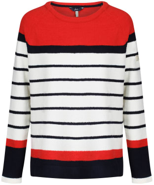 Women's Joules Seaport Raglan Jumper - Red Stripe