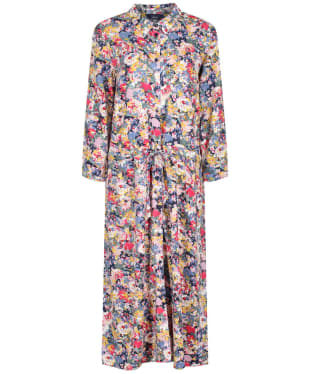 Women's Joules Winslet L/S Shirt Dress - Blue Floral