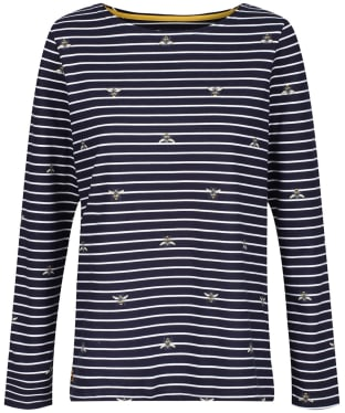 Women's Joules Harbour Print Top - Bees Stripe