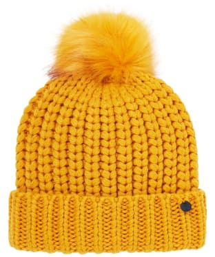 Women's Joules Trina Bobble Hat - Antique Gold