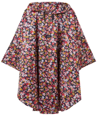 Women's Joules Poncho - Navy Blossom