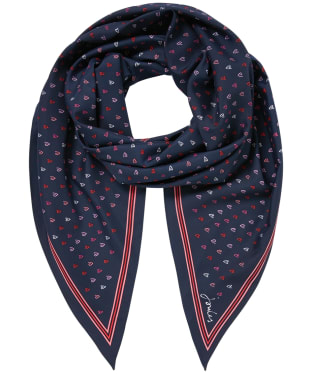 Women's Joules Asher Scarf - Navy Heart