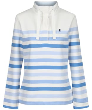 Women's Joules Saunton Sweatshirt - Cream Stripe