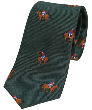 Men's Soprano Horse Racing Woven Tie - Green