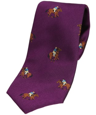 Men's Soprano Horse Racing Woven Tie - Purple