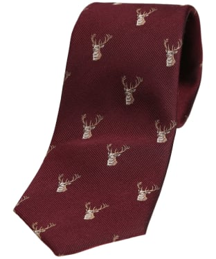 Men's Soprano Stag Heads Tie - Wine