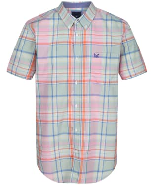 Men's Crew Clothing Padbury SS Soft Multi Check Shirt - Multi