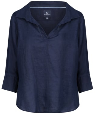 Women's Crew Clothing Bluebell Linen Shirt - Navy