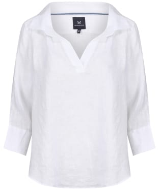 Women's Crew Clothing Bluebell Linen Shirt - White
