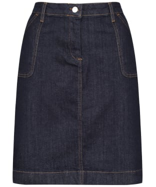 Women's Crew Clothing Denim Pocket Skirt - Dark Indigo
