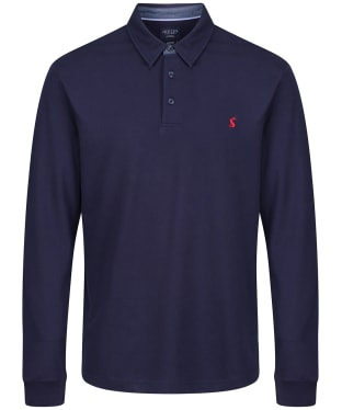 Men's Joules Woodwell Long Sleeve Polo Shirt - French Navy