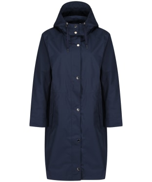 Women's Joules Taunton Long Raincoat - Marine Navy