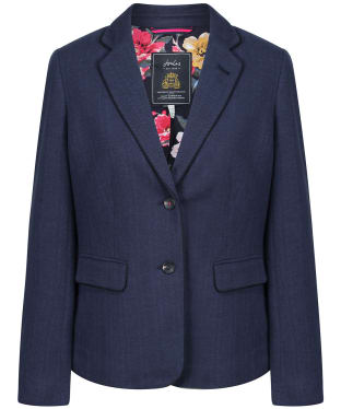 Women's Joules Agatha Single Breasted Blazer - Navy
