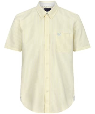 Men's Crew Clothing Heritage SS Stripe Oxford Shirt - Lemon