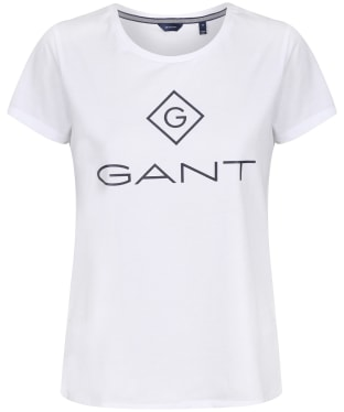 Women's GANT Lock Up T-Shirt - White