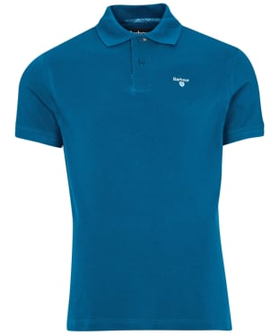 Men's Barbour Tartan Pique Polo Shirt - Lyons Blue