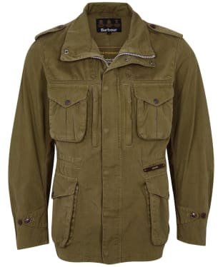 Men's Barbour Gold Standard Supa Overdyed Corbridge Casual Jacket - Military Olive