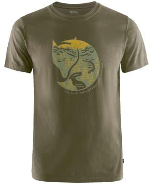 Men's Fjallraven Arctic Fox T-Shirt - Dark Olive