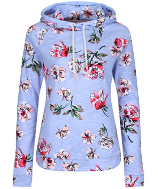 Women's Joules Marlston Print Hooded Sweatshirt - Blue Floral