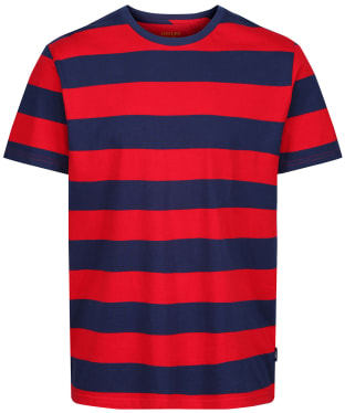 Men's Joules Boathouse Stripe Tee - Red / Blue Stripe
