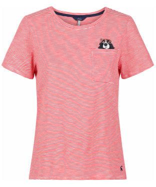 Women's Joules Carley Print T-Shirt - Spaniel Pocket