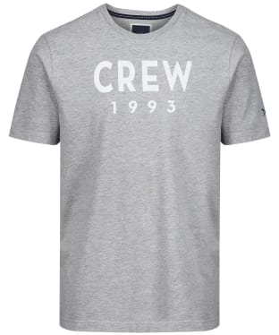 Men's Crew Clothing Graphic Tee - Grey Marl